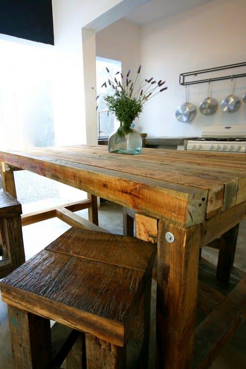 Tables by Stu Waddell seen at Drift San Jose, San José del Cabo - Communal Kitchen Table