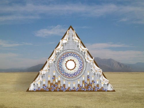 Sculptures by Andria Dawn seen at Burning Man 2017 - The Reflection Altar