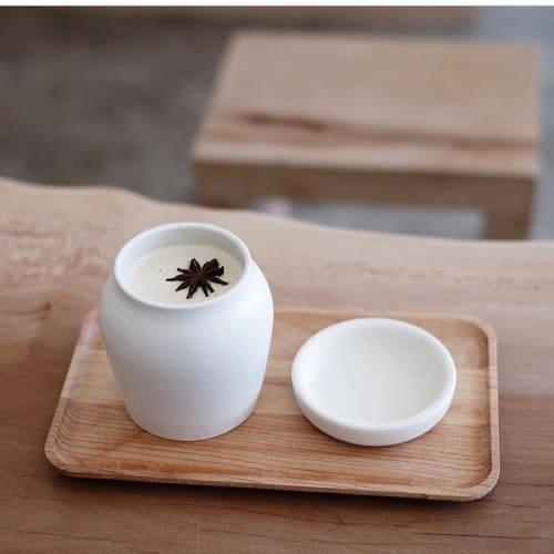 Tableware by Notary Ceramics seen at Maru Coffee, Los Angeles - Hangari Jars