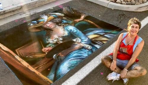 Street Murals by Lori Escalera seen at Culver City, Culver City - Pavement Art