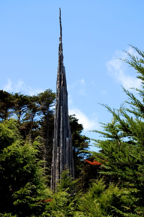 Public Sculptures by Andy Goldsworthy seen at Presidio of San Francisco, San Francisco - Spire