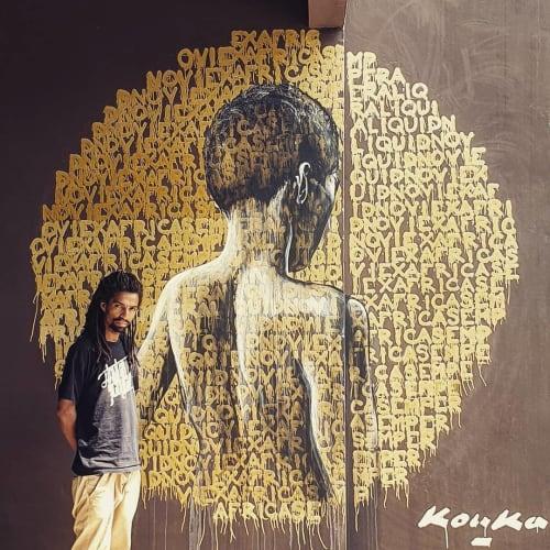 Murals by Kouka Ntadi seen at Pullman Dakar Teranga Hôtel 5 étoiles Luxe, Dakar - Mural