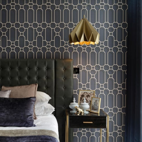 Wallpaper by Kit Miles seen at Private Residence, London - Fretwork