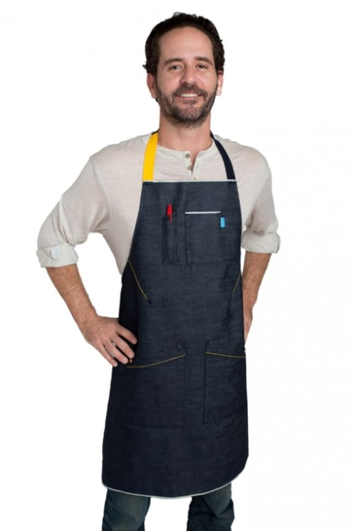 Aprons by BlueCut Aprons seen at Bestia, Los Angeles - Custom Apron