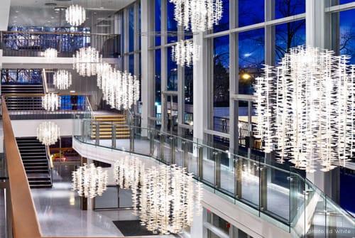 Chandeliers by Propellor Design at Queen Elizabeth Theatre, Vancouver - Sombrio