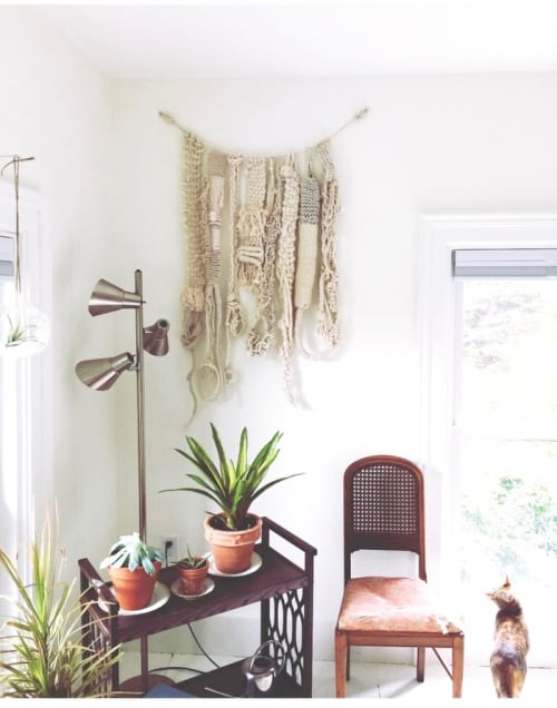 Macrame Wall Hanging by The Catskill Kiwi seen at Private Residence, Catskill - Knotted Wall Hanging