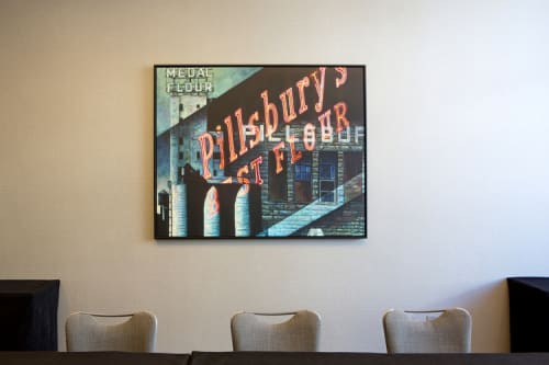 Paintings by Mat Ollig seen at Loews Minneapolis Hotel, Minneapolis - Pillsbury Noir