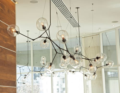 Chandeliers by Lindsey Adelman seen at The James New York, New York - Branching Bubble Chandelier
