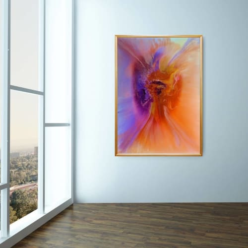 Paintings by Soulscape Art seen at Nuu Muse Gallery, Dallas - Rebirthing