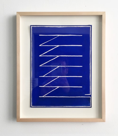 Paintings by Peter Warren seen at The William Vale, Brooklyn - Blueprint (Framed), 2017