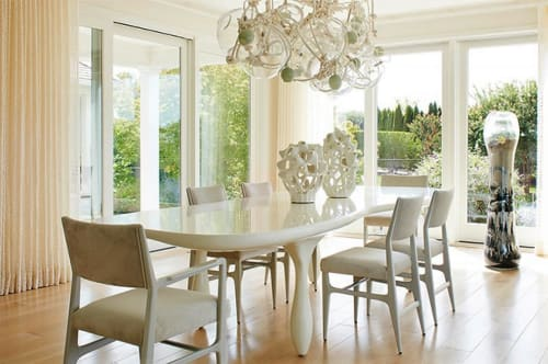 Tables by Jacques Jarrige seen at Water Mill Residence, Water Mill, NY, Water Mill - Large Carnac Dining Table in Lacquer
