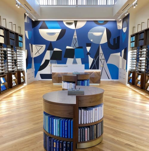 Murals by Rafael López Studio seen at Warby Parker Pasadena, Pasadena - Warby Parker Mural