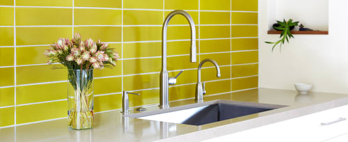 Subway Ceramic Kitchen Wall Tile by Heath Ceramics seen at