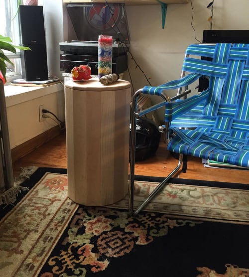 Furniture by Lucca Zeray seen at Private Residence, Brooklyn - Cylindrical Storage Unit