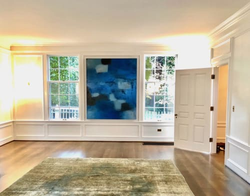 Paintings by Candace Primack Art seen at Private Residence, Portland - Abstract Paint - Blue