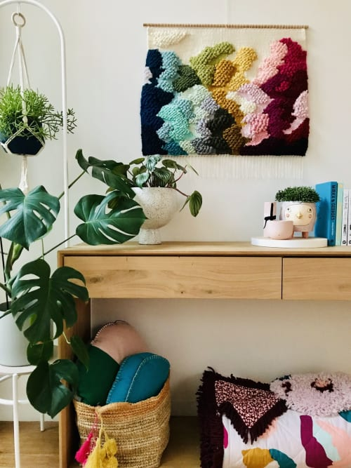 Macrame Wall Hanging by Tayla Bow seen at Private Residence, Melbourne - Rainbow Lands IX