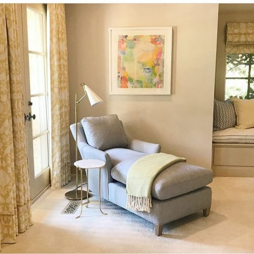 Paintings by Cathy Lancaster Studio seen at Private Residence, Dallas - Lily Pad