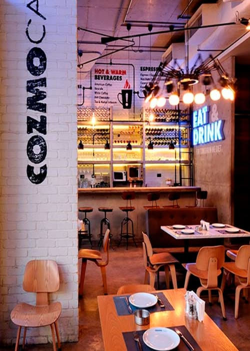 Interior Design by Claude Missir seen at Cozmo Café, Bayrut - Interior Design