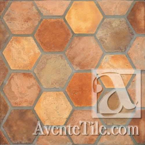 Tiles by Avente Tile seen at The Royal, Washington - Arabesque Hexagon Tiles