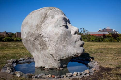 Public Sculptures by Tanda Francis seen at Socrates Sculpture Park, Queens - Take Me With You, 2017