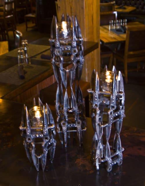 Sculptures by Jennifer Espenscheid seen at The Iron Horse Hotel, Milwaukee - Lucifers