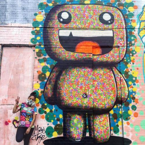 Street Murals by Miss Zukie seen at 43-10 94th Street, Elmhurst, Queens - Zukie Mural