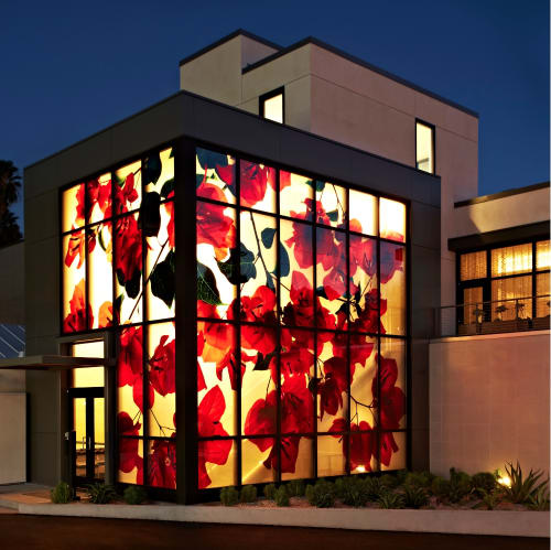 Paintings by Weil Studio seen at The Bel-Air, Los Angeles - Art Glass