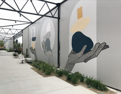 Murals by Allison Kunath at 555 aviation, El Segundo - Balance