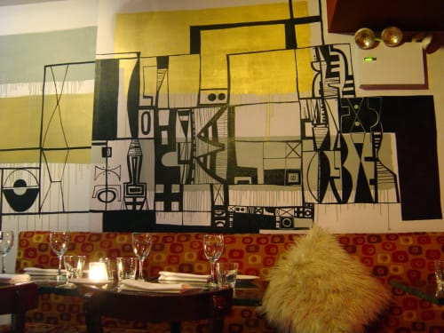 Murals by Jody Morlock seen at Pangea, New York - Pictographic