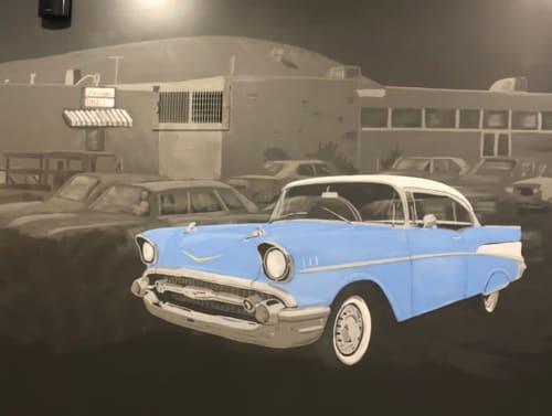 Murals by Josh Scheuerman seen at Bonwood Bowl, South Salt Lake - Bonwood Bowling Alley Mural