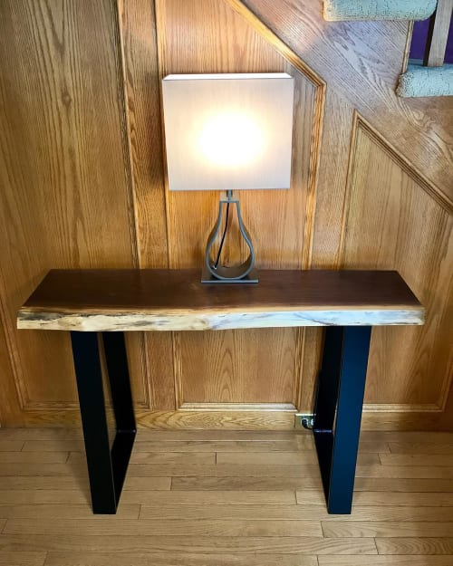 Tables by Cask Woodworking seen at Private Residence, Sherwood Park - Console Table