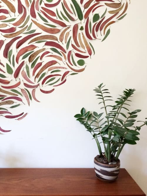 Murals by We Are Clay Studio seen at Private Residence, San Francisco - Eucalyptus Leaf Mural