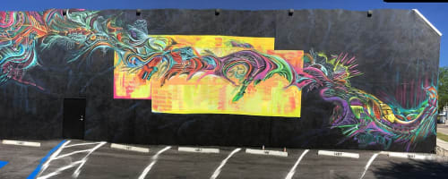 Murals by Max Ehrman (Eon75) seen at Urbanite Theatre, Sarasota - Truth is Love Mural
