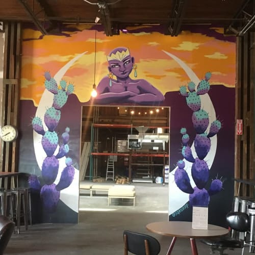 "Murals by Sapira Design seen at The Infinite Monkey Theorem, Austin - ""Mother Nature"" mural"