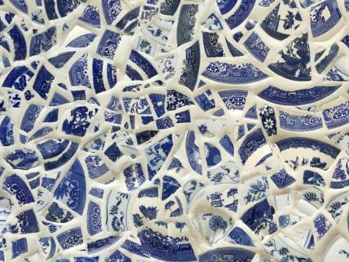 Murals by Johanna Burke of Burke & Pryde seen at Aruba Residence - Blue Willow Mosaic