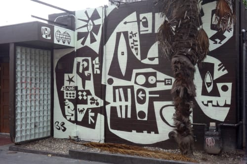 Murals by Brian Barneclo seen at Chambers, San Francisco - Black & White Mural