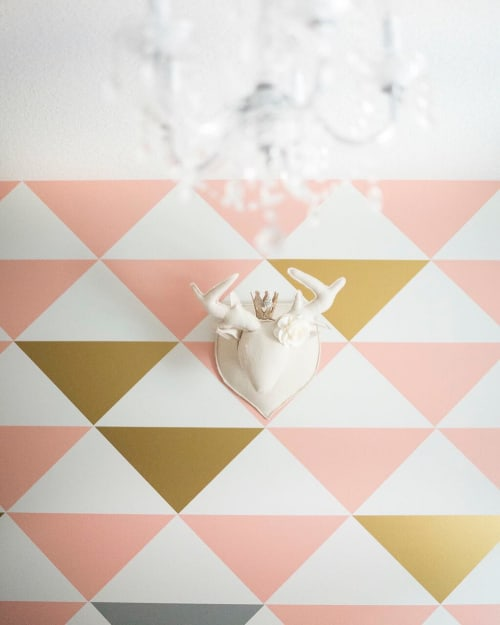 Wallpaper by MUR seen at Sarah's Home, Calgary - Large Triangles