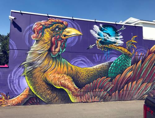 Street Murals by Bruno Smoky at Hotel Zed Kelowna, Kelowna - Hotel Zed Mural