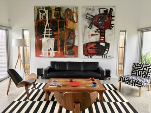 Paintings by George Raftopoulos at Private Residence - Abstract Paintings