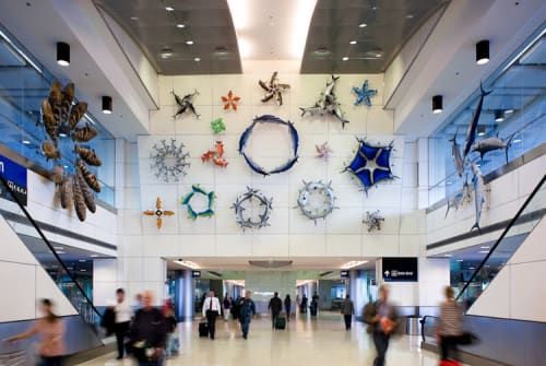 Sculptures by Donald Lipski seen at Miami International Airport, Miami - Got Any Jacks?