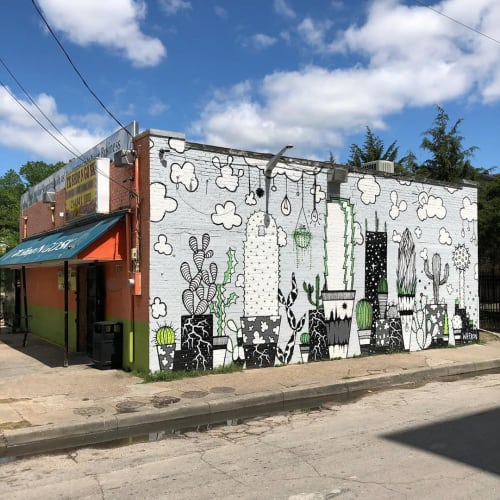 Murals by Wheron seen at Shop & Go, Dallas - Mural