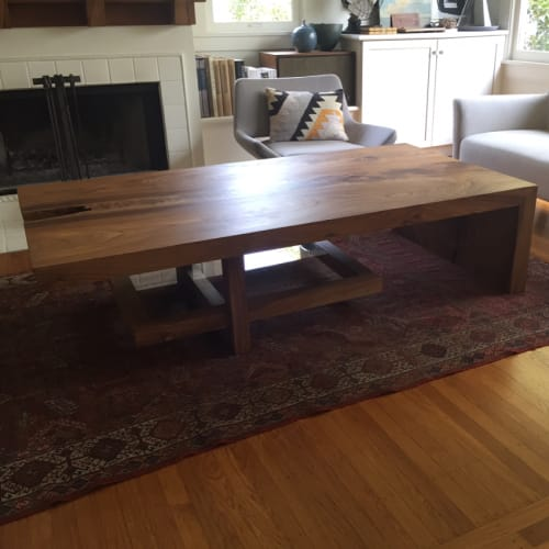Tables by Ghostown Woodworks by Rusty Dobbs at Private Residence, Berkeley Hills, Berkeley, CA, Berkeley - Custom Coffee Table