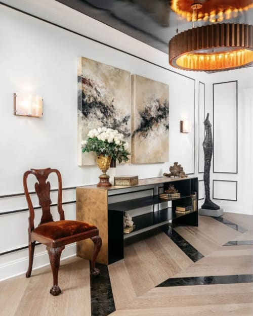 Sconces by McEwen Lighting Studio seen at SF Decorator Showcase 2019, San Francisco - Vellum Wall