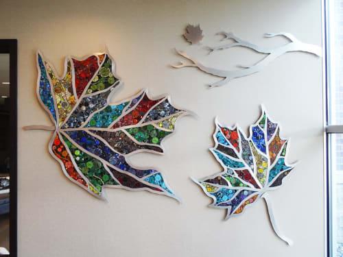 Murals by Bebe Keith seen at North Memorial Health Urgency Center, Minnetonka - Mosaic