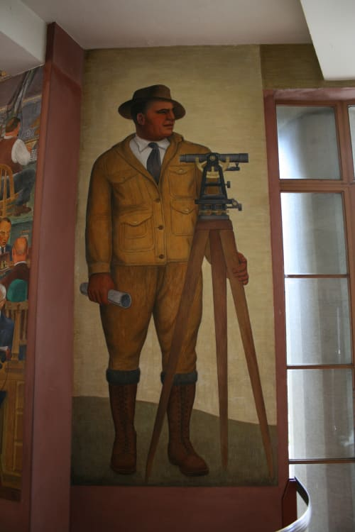 Murals by Clifford Wight seen at Coit Tower, San Francisco - Surveyor
