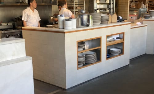 Tiles by Heath Ceramics seen at Tartine Manufactory, San Francisco - Subway Tiles