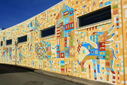Street Murals by Thomas Christopher Haag seen at Piedmont Avenue, Oakland - Mythical