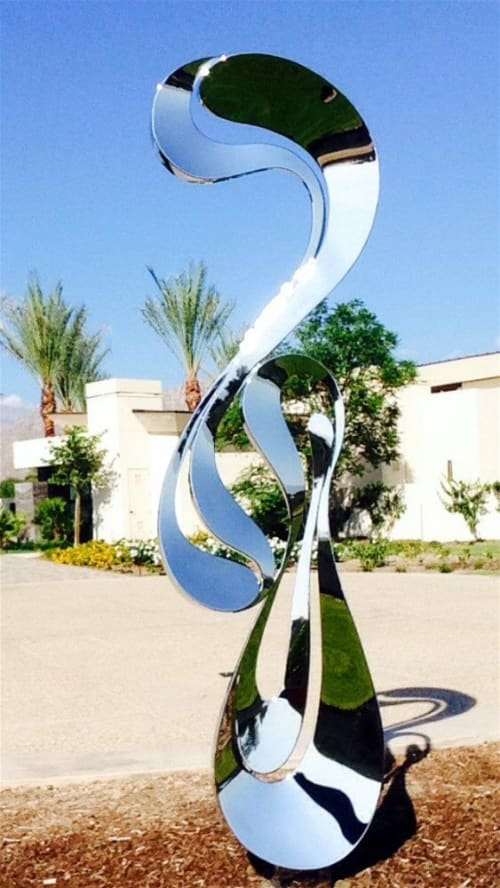 Public Sculptures by SoulArt seen at The Madison Club, La Quinta - JUBILEE
