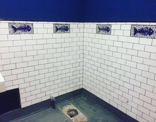 Public Mosaics by Jonathan Cohen seen at Maradentro Brentwood, Los Angeles - Mosaic Tiles