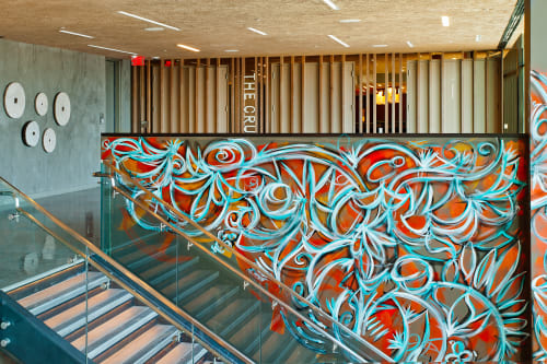 Murals by Alexander Mijares seen at EAST, Miami, Miami - Abstract Mural
